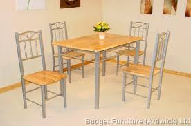 metal frame table and chairs 4 chair dining sets budget furniture ardwick ltd