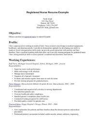 registered nurse resume sample format nursing resume sample