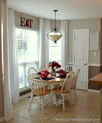 Curtain In Kitchen by Eat In Kitchen Makeover How To Easily Add More Height To Your Room