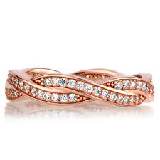 s gold wedding bands gold twisted cz wedding ring band