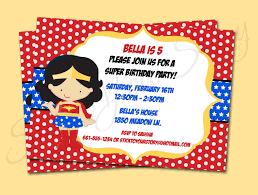 Superhero Invitation Card Printable Invitations Superhero Wonder Woman By Sticktoyourstory