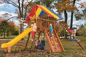 monster castles swing sets rainbow play systems rainbow play