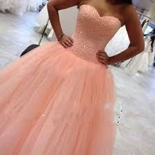 aliexpress com buy peach princess sweetheart prom dresses