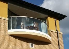 half round glass balcony railing home architecture and interior