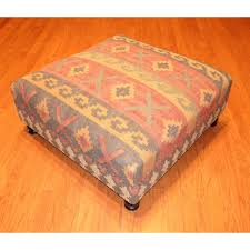 coffee table handmade kilim upholstered storage footstool ottoman