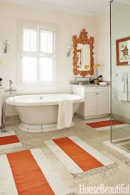 winsome orange bathroom winning striped bath mats tile ideas burnt