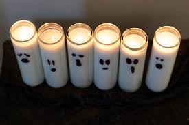 diy halloween decorations simple ghost candles