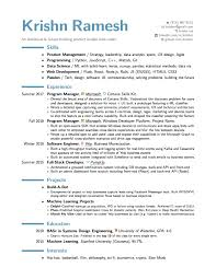 Machine Learning Resume Krishn Ramesh U2013an Ambitious And Future Thinking Product Builder Who