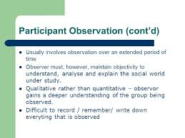 participant observation what is participant observation involves