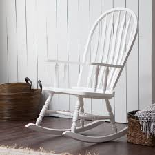 White Slat Rocking Chair by Belham Living Windsor Indoor Wood Rocking Chair U2013 White Hayneedle
