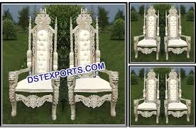indian wedding chairs for and groom royal carving groom chairs dstexports wedding