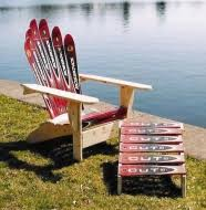Snowboard Bench Legs Snowboard Bench Adirondack Ski Chairs Cozywinters