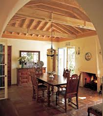 an authentic new spanish colonial old house restoration the dining room ceiling is made from lime washed douglas fir
