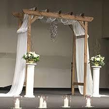 wedding arches and columns white wedding columns
