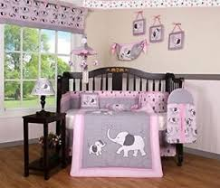 Pink And Gray Crib Bedding Boutique Pink Gray Elephant 13 Pcs For Baby Crib Bedding Set Ebay