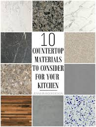 countertop materials to consider for the kitchen jenna burger your