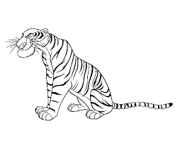 jungle book shere khan jungle book coloring pages