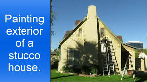 spray painting exterior stucco house and prep work youtube