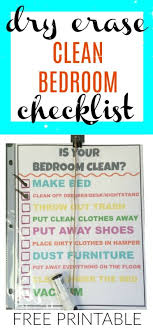 clean bedroom checklist kids having a hard time cleaning their rooms give them this