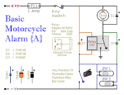 how to build two simple relay based motorcycle alarms circuit