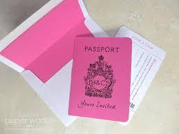 custom invitation canada passport invitation for las vegas wedding custom paper works