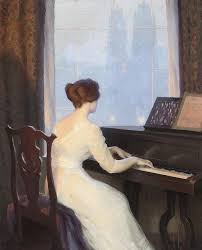 the al arts ian paintings william worcester churchill 1858 1926 girl playing the piano