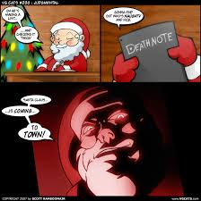 Memes De Santa Claus - santa claus death note and vgcats drawn by scott ramsoomair danbooru