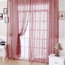 tende con drappeggio floreale drappeggio pannello pura sciarpa mantovana tulle voile
