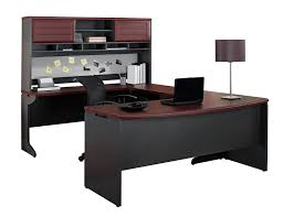 U Shape Desks Ameriwood Home Pursuit U Shaped Desk With Hutch Bundle