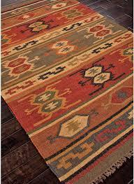 Modern Orange Rugs by Modernrugs Com Modern Kilim Woven Bedouin Thebes Rug Kilim
