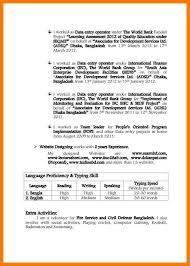 Resume Sample For Data Entry Operator by 5 Application Sample Park Attendant