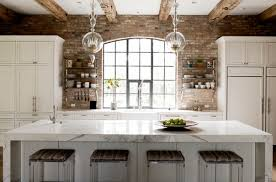 kitchen brick backsplash the brick veneer as a backsplash isn t brick porous