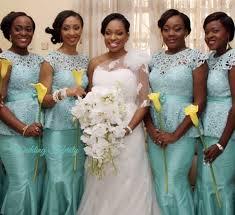 blue bridesmaids dresses for nigerian weddings