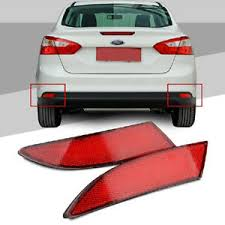 2014 ford focus tail light red lens led rear bumper reflector brake fog light l fr ford