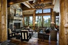 home interior cowboy pictures improbable cowboy log cabin living room interior fantastic donato