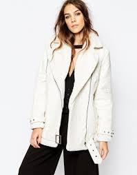 biker coat fancy friday shearling biker jackets style and cheek