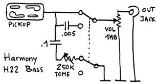 harmony h22 h25 bass wiring