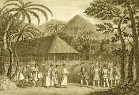 Map Of Tahiti Samuel Wallis And Philip Carteret