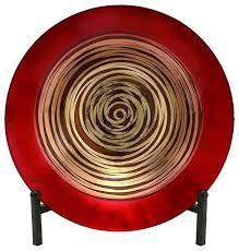 glass bowl metal easel contemporary decorative bowls by zeckos