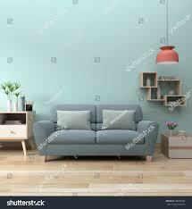 modern living room interior sofa lamp stock illustration 688995682