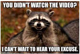 Funny Raccoon Meme - create memes for your classroom teaching with technology