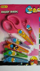 pack of 6 kids craft scissors shears zig zag craft scrapbook shape