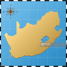 Map South Africa South Africa Map With Compass Rose Vector Art Getty Images