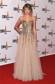 sweetheart long gold sequined taylor swift red carpet celebrity dress