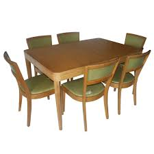beautiful retro dining table and chairs in interior design for