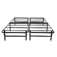 cal king foldable mobile bed frame rc willey furniture store