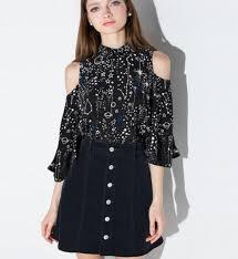 open shoulder blouse free shipping 2016 harajuku planet open shoulder blouse