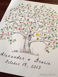 wedding tree guest book wedding guest book alternative fingerprint tree xl elm tree