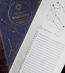letterpress stationery zodiac birthday calendar bison bookbinding letterpress