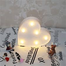 Schlafzimmer Lampe Romantisch Romantische Herzen Nacht Lampen 3d Festzelt Brief Führte